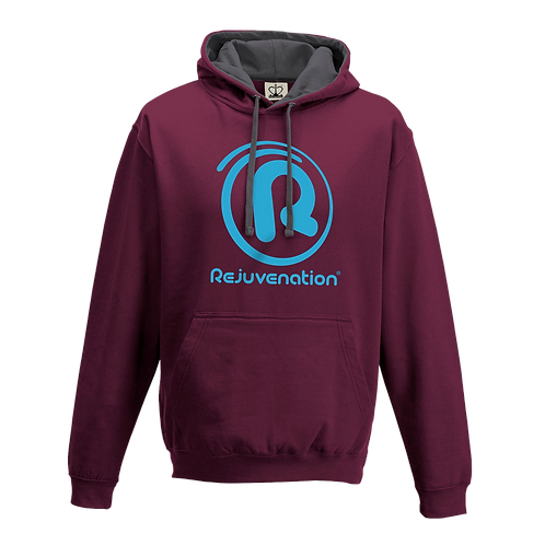 Rejuvenation Burgundy & Blue Hoody - ® Logo