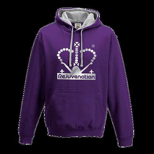 Rejuvenation Purple & Silver Hoody - Crown Logo
