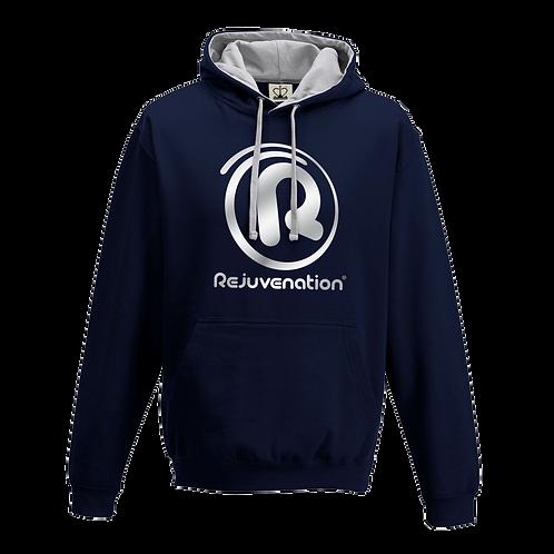 Rejuvenation Navy Blue & Silver Hoody - ® Logo
