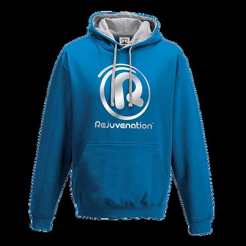 Rejuvenation Sapphire Blue & Silver Hoody - ® Logo
