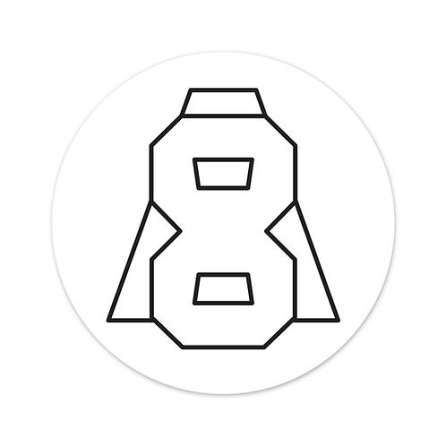 Altern8 'A8' White Slipmats (Pair)