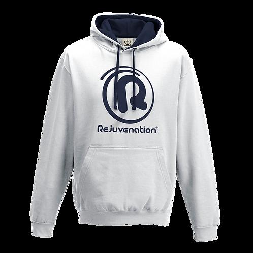 Rejuvenation White & Navy Blue Hoody - ® Logo
