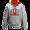 Thumbnail: Rejuvenation Grey & Red Hoody - Crown Logo