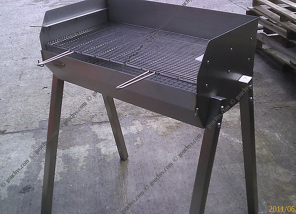 Small Stainless Adjustable BBQ - 610 x 400mm