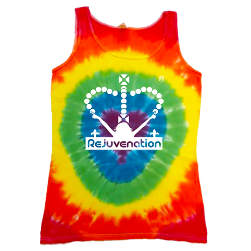 Ladies Tie-Dye Heart Vest
