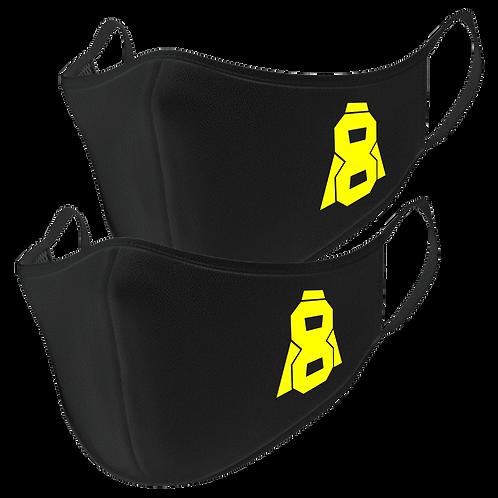 Altern8 Black Face Masks (2 Pack)