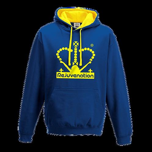 Rejuvenation Blue & Yellow Hoody - Crown Logo