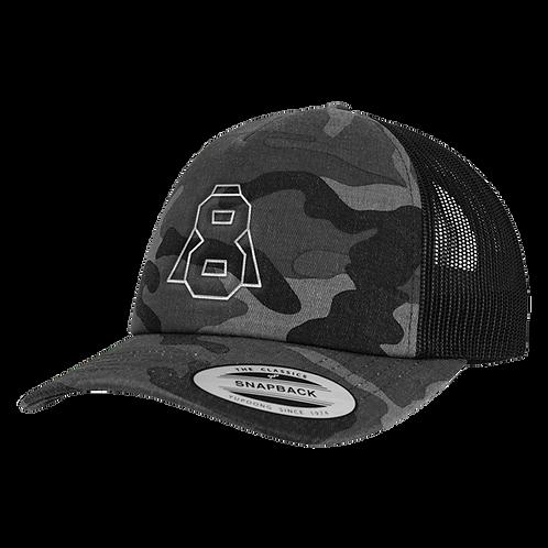 Altern8 'A8' Grey Retro Camo Cap