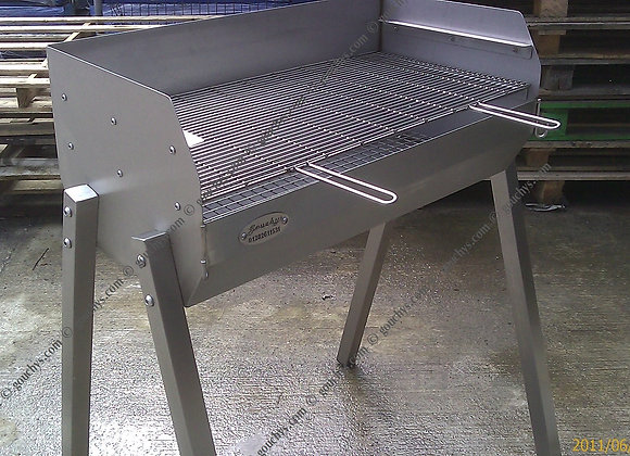 Large Stainless Adjustable BBQ - 1220 x 400mm