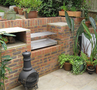 Small Stainless Built-In BBQ - 610 x 400mm