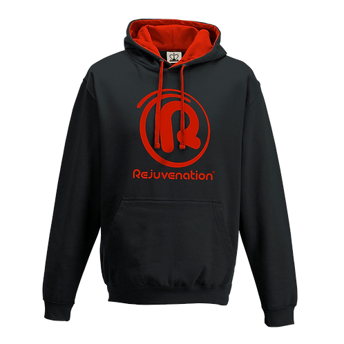 Rejuvenation Black & Red Hoody - ® Logo