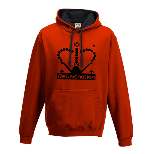 Rejuvenation Red & Black Hoody - Crown Logo
