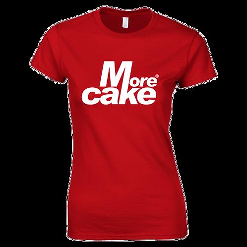 Ladies Red More Cake TShirt