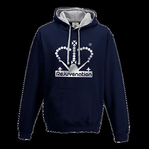 Rejuvenation Navy Blue & Silver Hoody - Crown Logo