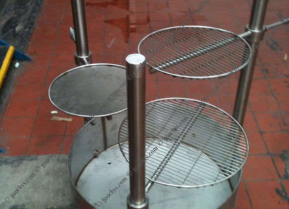 Medium Stainless Firepit BBQ - 600mm diameter