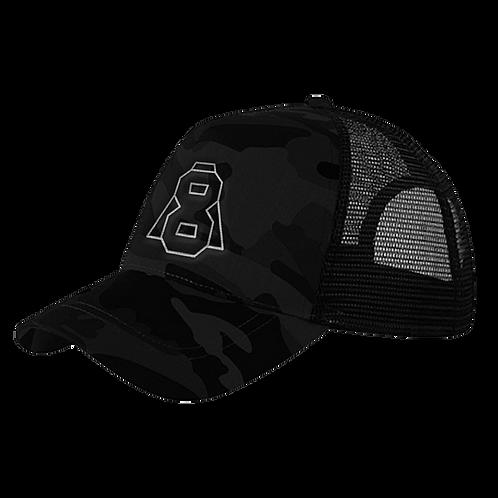 Altern8 'A8' Black Retro Camo Cap