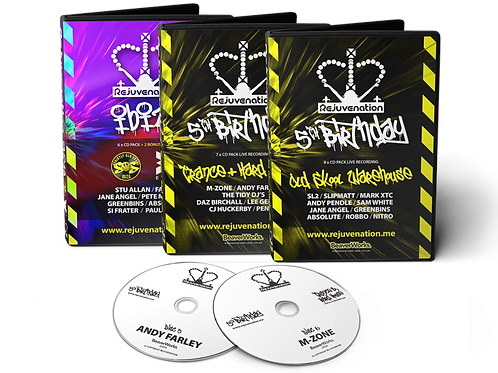 Rejuvenation Triple CD Pack Offer (Old Skool / Trance & Hard House / Ibiza)