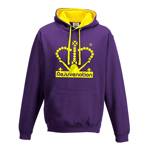 Rejuvenation Purple & Yellow Hoody - Crown Logo