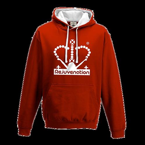 Rejuvenation Red & White Hoody - Crown Logo