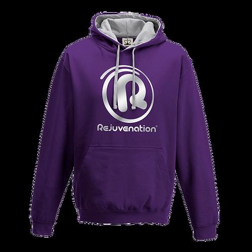 Rejuvenation Purple & Silver Hoody - ® Logo
