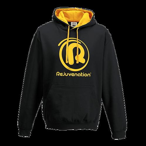 Rejuvenation Black & Amber Hoody - ® Logo