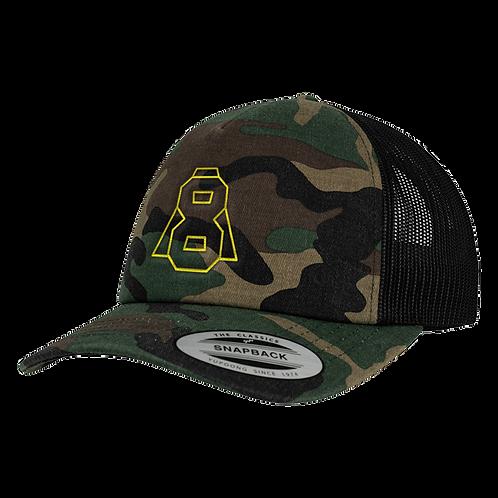 Altern8 'A8' Green Retro Camo Cap