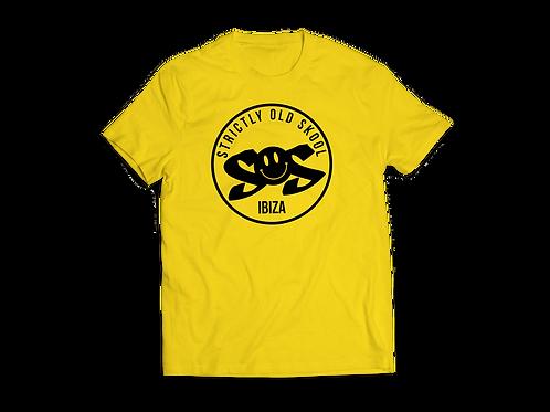 Mens Yellow SOS Ibiza Tshirt