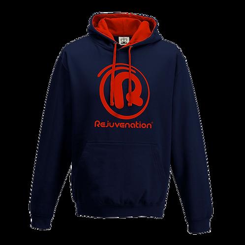 Rejuvenation Navy Blue & Red Hoody - ® Logo