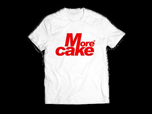 Mens White More Cake Tshirt