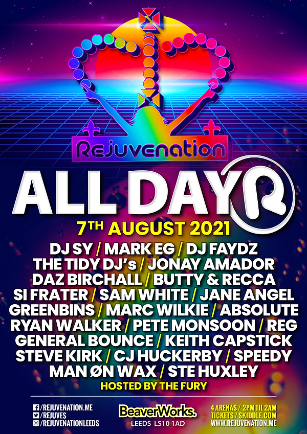 Rejuve All Dayer 7th August POSTER