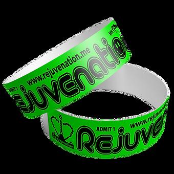 Rejuvenation Wristbands Neon Green