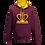 Thumbnail: Rejuvenation Burgundy & Amber Hoody - Crown Logo