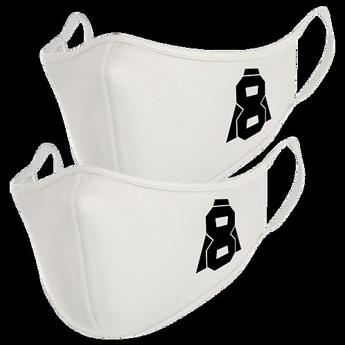 Altern8 White Face Masks (2 Pack)
