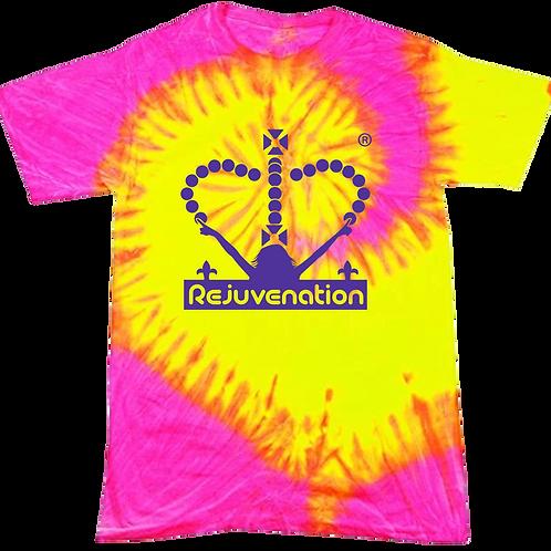 Fluorescent Swirl Tie-Dye Tshirt
