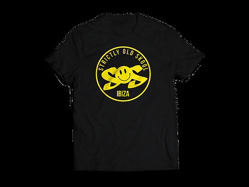Mens Black SOS Ibiza Tshirt