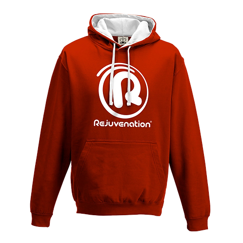 Rejuvenation Red & White Hoody - ® Logo