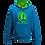 Thumbnail: Rejuvenation Sapphire Blue & Neon Green Hoody - ® Logo