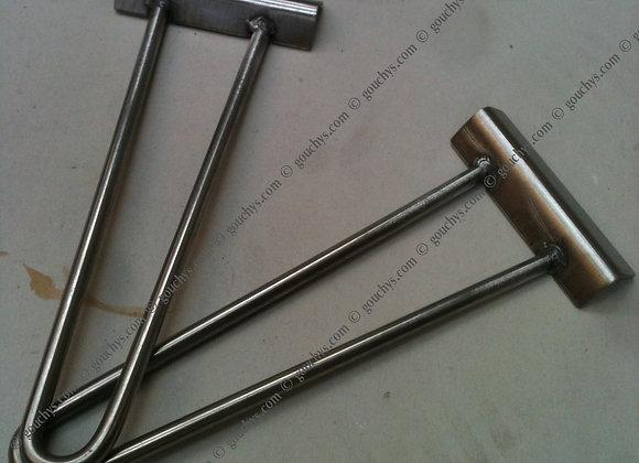 Pair Stainless Steel Hook On Handles 200 x 40mm