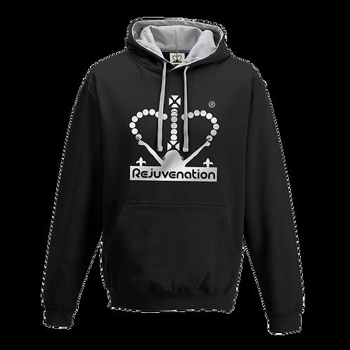 Rejuvenation Black & Silver Hoody - Crown Logo