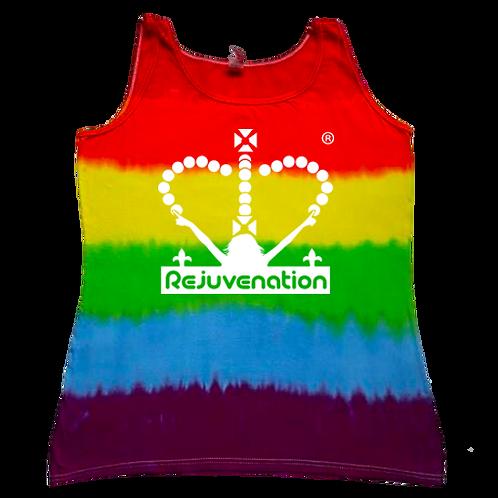 Ladies Tie-Dye Rainbow Vest