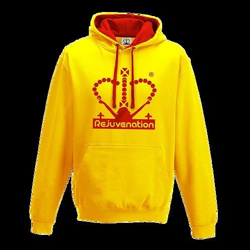 Rejuvenation Yellow & Red Hoody - Crown Logo