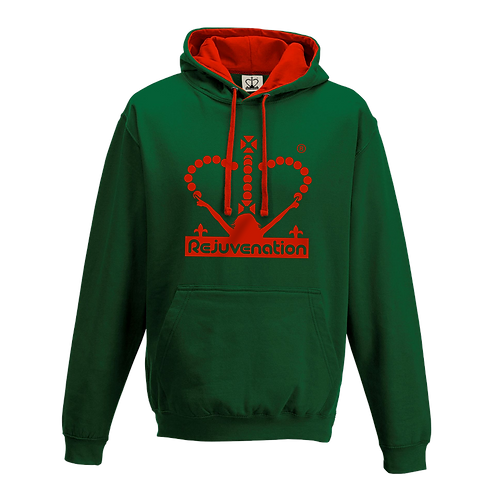 Rejuvenation Green & Red Hoody - Crown Logo