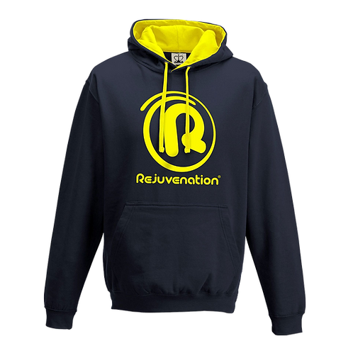 Rejuvenation Navy & Yellow Hoody - ® Logo