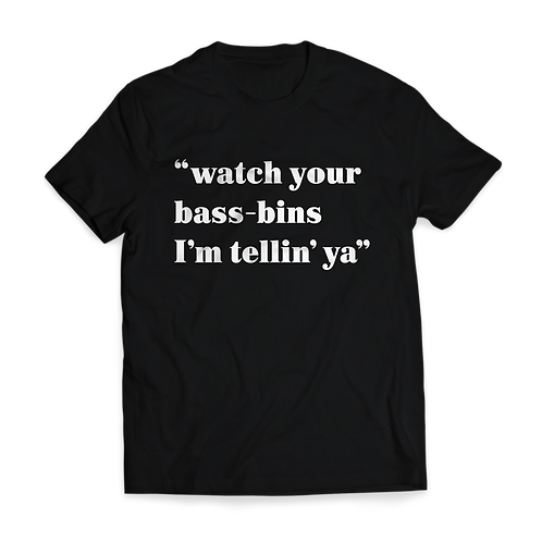 Altern8 'Watch Your Bass-Bins' Black T-shirt