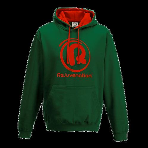 Rejuvenation Green & Red Hoody - ® Logo