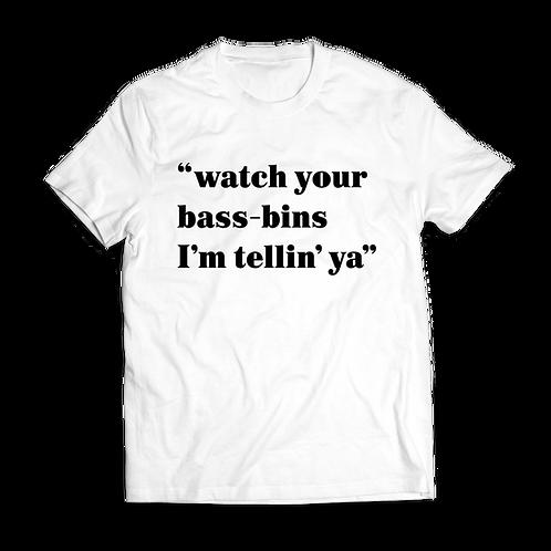 Altern8 'Watch Your Bass-Bins' White T-shirt