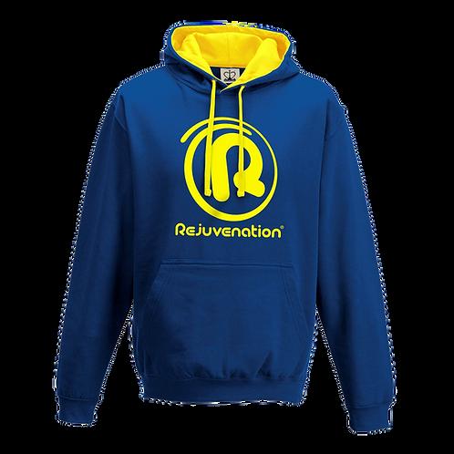 Rejuvenation Blue & Yellow Hoody - ® Logo