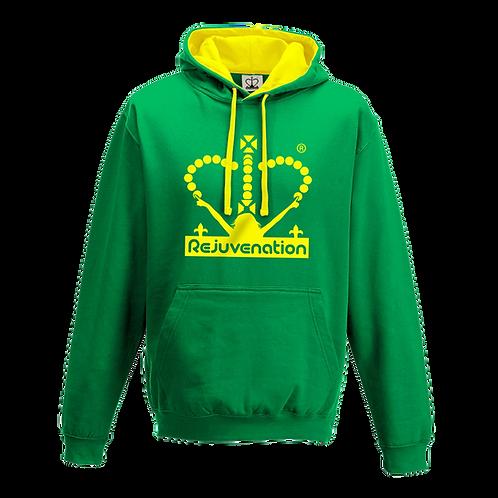 Rejuvenation Green & Yellow Hoody - Crown Logo