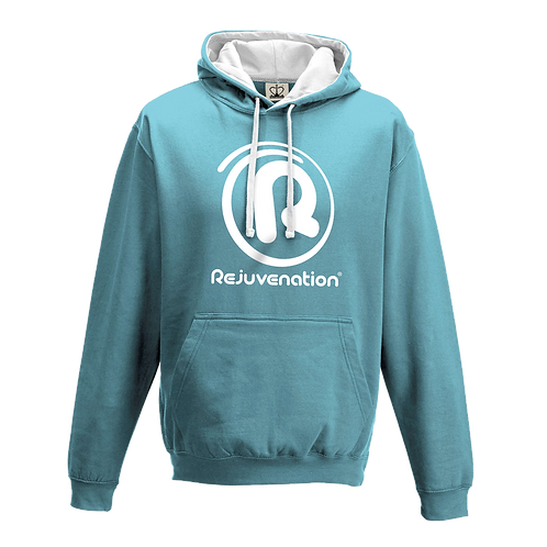 Rejuvenation Sky Blue & White Hoody - ® Logo