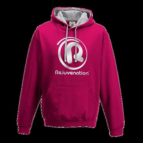 Rejuvenation Hot Pink & Silver Hoody - ® Logo